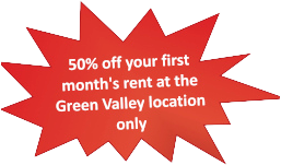 50% Off Your First Month's Rent at Our Green Valley Location Only!